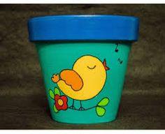 Risultati immagini per macetas pintadas Flower Pot Art, Flower Pot Design, Clay Flower Pots, Flower Pot Crafts, Clay Pots, Flower Pot People, Clay Pot People, Clay Pot Projects, Clay Pot Crafts