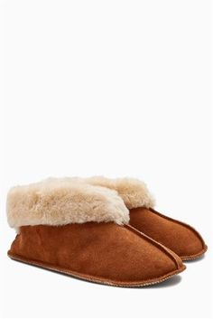 Buy Chestnut Suede Low Cut Slipper Boots from the Next UK online shop