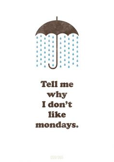 Rainy days and Mondays in one pin? This print ftw! :-)