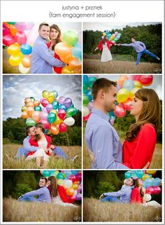 cute engagement pics....I'd love it even more if the balloons were all one color :)