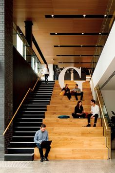 Step inside GridAKL, New Zealand's first and largest co-working campus, located in Auckland's Wynyard Quarter. Co Working, Step Inside, Auckland, New Zealand, Stairs, Architecture, Creative, Arquitetura, Stairway
