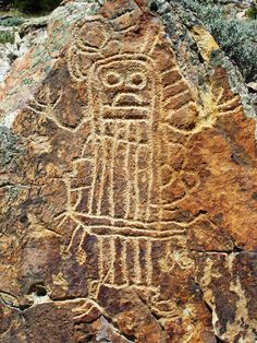 Wyoming petroglyph. [Appears to be a Dinwoody Tradition petroglyph. JE]