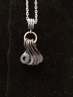 bike chain parts necklace