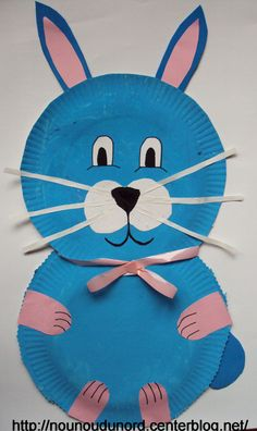 Paper Plate Easter Bunny Craft by nounoudunord