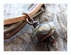 Monsoon Wrap Bracelet by TheCopperstoneForge on Etsy 18€ #jewellery #jewelry #lampwork #wirework #handmade