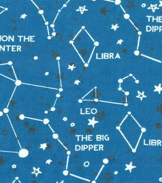 Snuggle Flannel Fabric Astrology