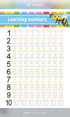 Kindergarten Reading, Kindergarten Activities, Activities For Kids, Reading Worksheets, Learning Numbers, Grade 1, Vector Freepik, Alphabet, Author