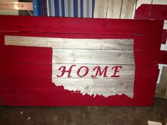 Repurposed Fence panels into an Oklahoma sign  Follow me @ Facebook.com/Reddirtjunky