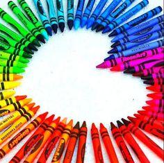 A POP OF COLOR! ▶ Crayons