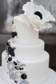 Awesome cake...but i would not have the big flower at the top