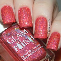 River Deep Mountain High from The Gleek Collection, nine gleeful bright holos inspired by the TV series GLEE! Launching in July 3rd USA (July 4th Aus & France) from www.glampolish.com.au swatch by @bettinanails ❤️❤️