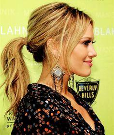 Hilary Duff- great ponytail & makeup!