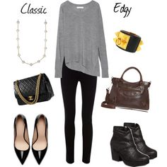 """""""Simple Two Ways"""" by unefemme on Polyvore"""