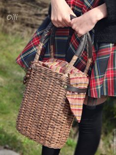 """Купить сумка- корзинка """"Крафт"""" - коричневый, сумка женская, сумка плетеная, Плетеная корзинка"""