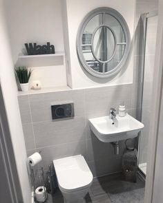 Bathroom decor for your bathroom remodel. Discover bathroom organization, bathroom decor ideas, bathroom tile ideas, bathroom paint colors, and more. Bathroom Design Small, Bathroom Layout, Bathroom Interior Design, Bathroom Ideas, Shower Ideas, Bath Ideas, Grey Bathrooms, White Bathroom, Boho Bathroom