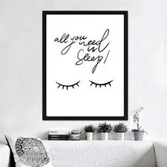 Simple Cute Bedtime Sleep Quote Nursery Wall Art Fine Art Canvas Prints Minimalist Black & White Bedroom Posters For Kids Room Decor Baby Wall Art, Nursery Wall Art, Wall Art Decor, Room Decor, Baby Room Pictures, Pictures To Paint, Painting Pictures, Black And White Posters, Black And White Wall Art