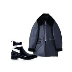 FASHION WEEK OUTERWEAR | Style.com  Balenciaga Ankle Boots Ance Studios Major oversized leather jacket