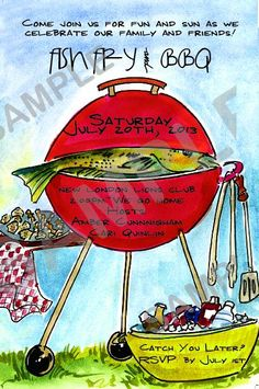 Fish Fry Party- Invites