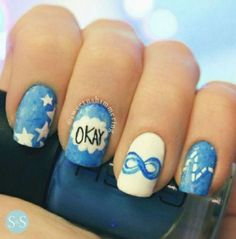 I love fault in our stars! Such a good book. So going to do these fault in our stars nails! Pure perfection <3 just like John Green, the author. Check him out on youtube and read his books!