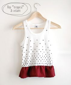 DIY top cropped polka dots