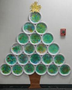 Cómo hacer #árbol de #Navidad de pared con #platos de #papel usados  #DIY #HOWTO #ecología #reciclar #reutilizar