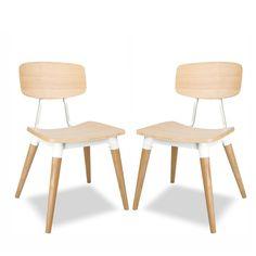 Copine White Oak Chair Set