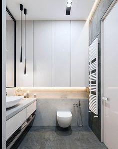 Graceful tall narrow bathroom storage cabinet to inspire you Minimalist Bathroom Design, Modern Master Bathroom, Modern Bathroom Design, Bathroom Interior Design, Bath Design, Master Bathrooms, Bathroom Designs, Contemporary Bathrooms, Modern Faucets