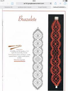 Hairpin Lace Crochet, Crochet Art, Jewelry Patterns, Craft Patterns, Bracelet Patterns, Lace Tape, Bobbin Lacemaking, Bobbin Lace Patterns, Lace Bracelet
