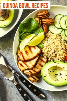Quinoa is so good for you and taking this wonderful ingredient and creating quinoa bowls is fun and tasty. The best thing is that you can easily customize each bowl for even the pickiest eater.  #Recipes #QuinaoBowls
