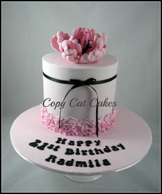 Birthday cakes for her - Pretty 21st birthday cake