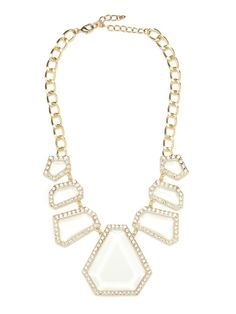It should be crystal clear why we love this sparkling stunner.  The graphic silhouette is one of our all time favorites, and re-worked in gotta have it right now clear crystal, it's a guaranteed knock-out!  This is part of BaubleBar's 2nd Anniversary Collection