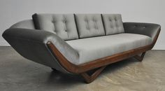 Adrian Pearsall Gondola Sofa | From a unique collection of antique and modern sofas at https://www.1stdibs.com/furniture/seating/sofas/