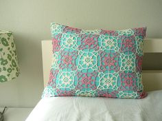 Pink and turquoise pillow!