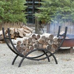 Crescent Firewood Holder in House+Home HOME DÉCOR Furniture Outdoor at Terrain