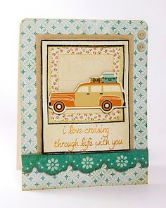 love this card by Julie Campbell! reminds me of family vacations as a kid in the 60s.