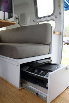 Vintage Airstream, rescued and remodelled with a clever modern interior.