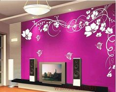 Vinyl Wall Decal Flower decal butterfly decal by walldecals001, $50.00