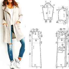 Simple Dresses Pattern Making Sewing Crafts Sewing Projects Diy Crafts Dress Patterns Sewing Patterns T Dress Japanese Books Coat Pattern Sewing, Sewing Coat, Easy Sewing Patterns, Coat Patterns, Jacket Pattern, Clothing Patterns, Dress Patterns, Pattern Drafting, Diy Crafts Dress
