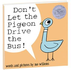 No matter how much the pigeon begs and pleads, he's not allowed to drive the bus! Children will love to answer back as the pigeon asks again and again to do something he's not allowed to do! Hardcover book by Mo Willems is 40 pages. Mo Willems, Good Books, Books To Read, My Books, Pigeon Books, Kindergarten Books, Persuasive Writing, Essay Writing, Early Readers