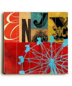 'Enjoy' Collage Wall Art