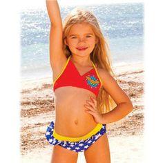 ef34b03b44130 Wonder Woman Girls Halter Bikini  29.99 Halter Bikini