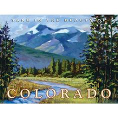 Old Colorado Mountains Metal Sign adds unique decor to your home or business. Every Colorado Travel collector would love this unusual gift. All Colorado Mountains Tin Signs are pre-drilled and ready to hang.