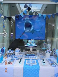 Sharks Birthday Party Ideas | Photo 1 of 50 | Catch My Party