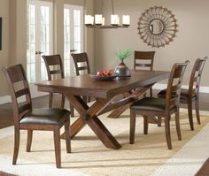 Park Avenue Trestle Dining Table w/ 2 Leaves by Hillsdale - Johnny Janosik - Kitchen Table Delaware, Maryland, Virginia, Delmarva
