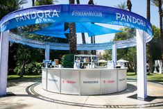 Pandora Coachella Party: Pandora brought Questlove for its Cathedral City party, which announced brand names on a round central bar. The event also included a hair-braiding station, giant chessboards, ping-pong, and beanbag toss games.
