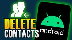 HOW TO DELETE CONTACTS ON ANDROID Nintendo, Android, Tech, Logos, Technology, Logo
