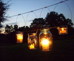 Fairy Lights Lanterns 6 DIY Mason Jar Hangers Twist On Hanging