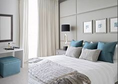Blue and Grey Room.