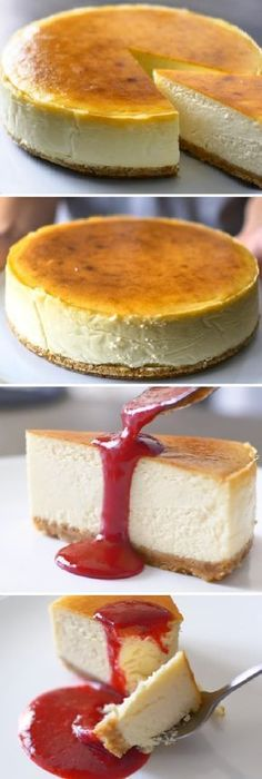New York Cheesecake tradicional Newyork Cheesecake, Cheesecake Cake, Cheesecake Recipes, Super Cookies, Food Wishes, Best Cheese, Mini Cheesecakes, Cookies Et Biscuits, Desert Recipes