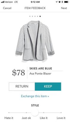 I have this from stitch fix and wear it all the time! Shirts that go well under this are helpful.